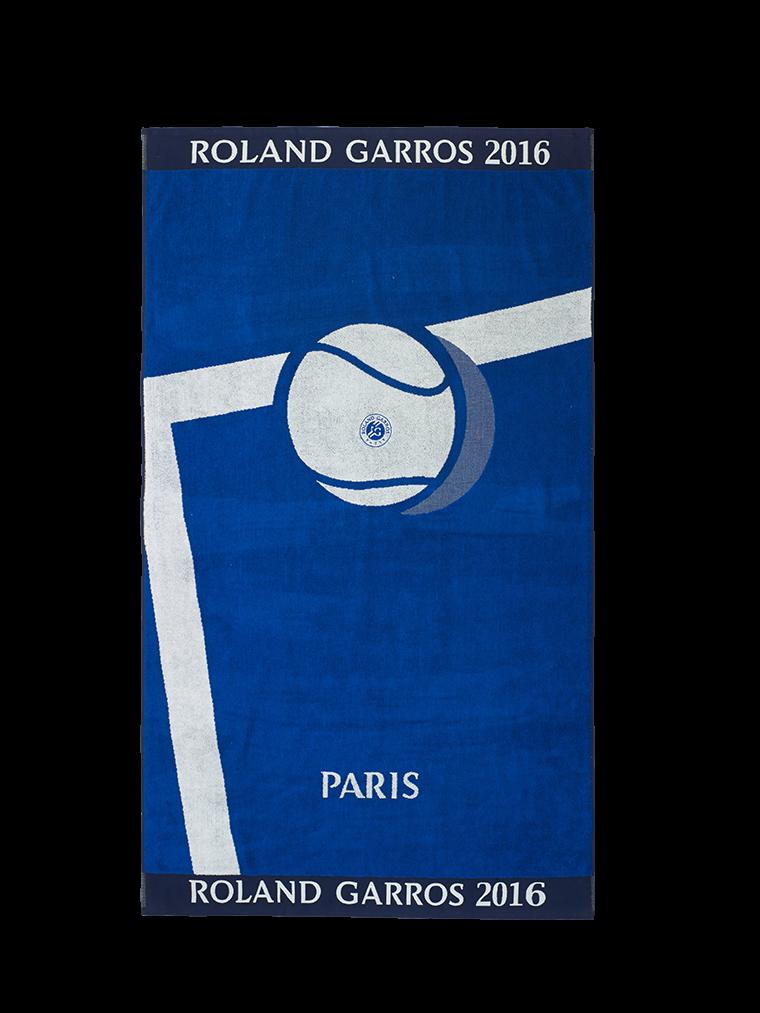 Serviette joueur roland garros 2016 bleu carre blanc - Serviette roland garros ...
