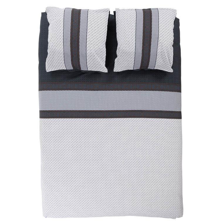 housse de couette percale moderne brod e et imprim e. Black Bedroom Furniture Sets. Home Design Ideas