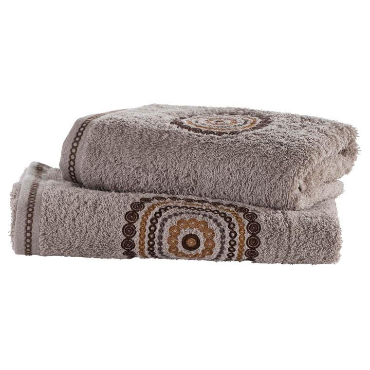 drap de bain must taupe carre blanc. Black Bedroom Furniture Sets. Home Design Ideas