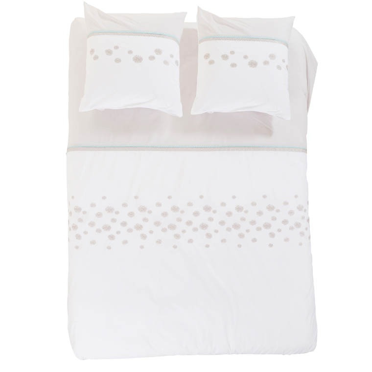 Housse de couette pearl carre blanc for Carre blanc housse de couette
