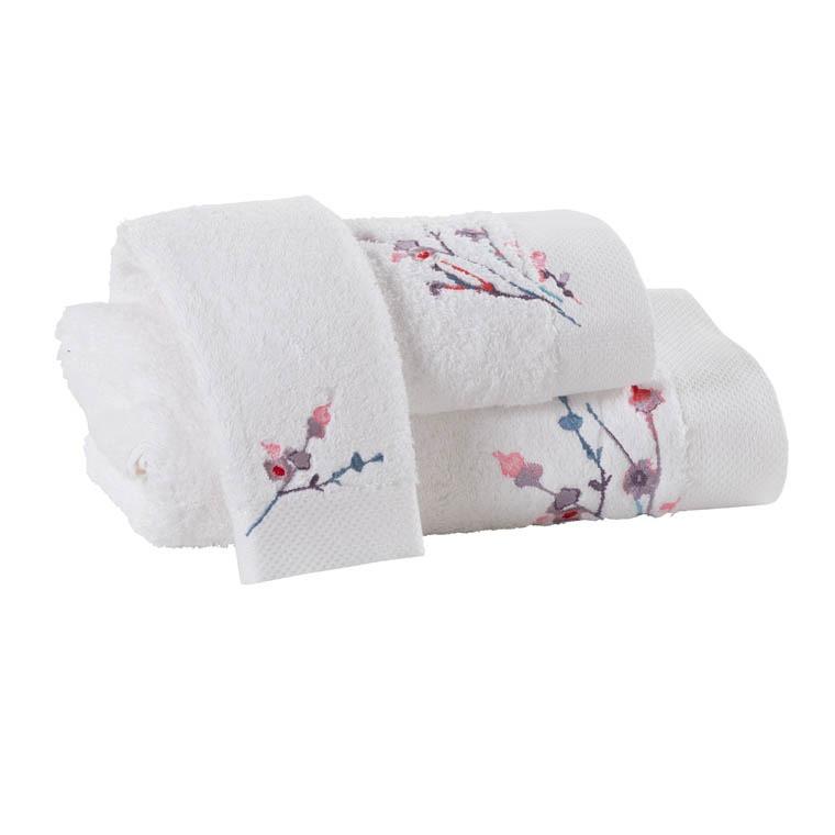 serviette de toilette sakura carre blanc. Black Bedroom Furniture Sets. Home Design Ideas