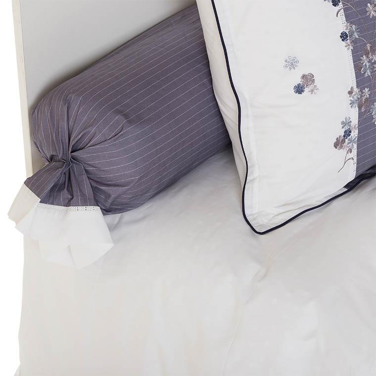 taie de traversin elisa carre blanc. Black Bedroom Furniture Sets. Home Design Ideas