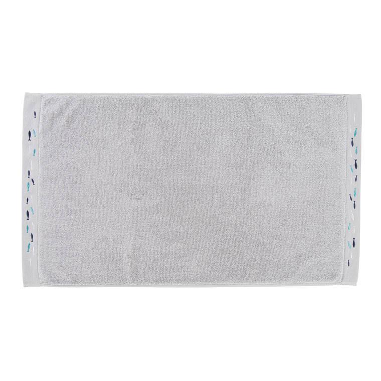 tapis de bain calypso gris carre blanc. Black Bedroom Furniture Sets. Home Design Ideas