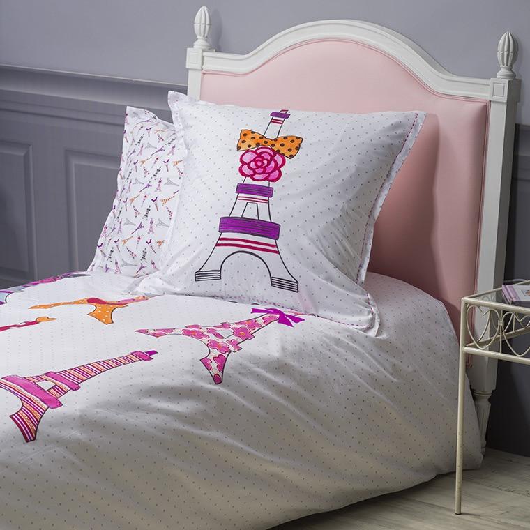 parure de lit fille ohlala parures de lit enfant carre. Black Bedroom Furniture Sets. Home Design Ideas