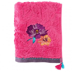 Serviette de toilette FLAVIE FUSCHIA