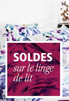 soldes linge de lit et bain linge de maison sold carr. Black Bedroom Furniture Sets. Home Design Ideas