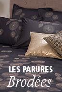 Parures de lit brodées