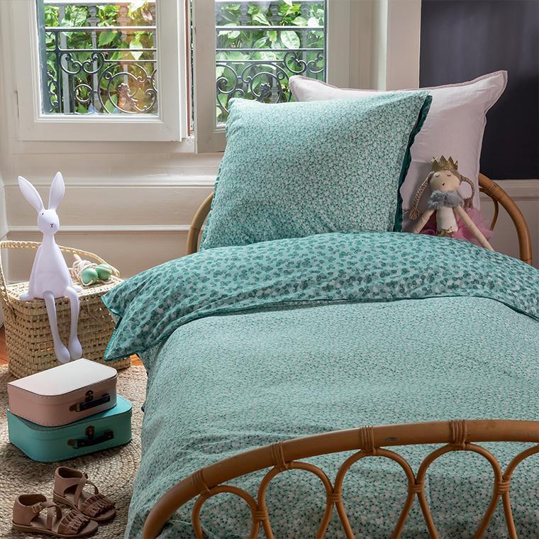 parure de lit enfant percale de coton imprimée liberty