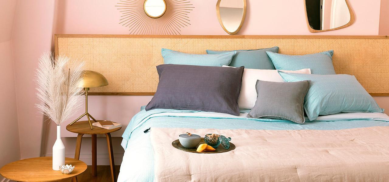 Parure de lit percale de coton Givre vintage