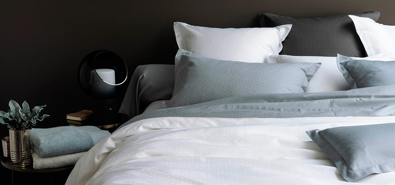Parure de lit satin de coton MAESTRO plusieurs coloris