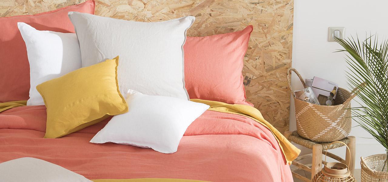Parure de lit en lin SONGE Blush