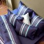 Drap de lit satin de coton imprimé James encre