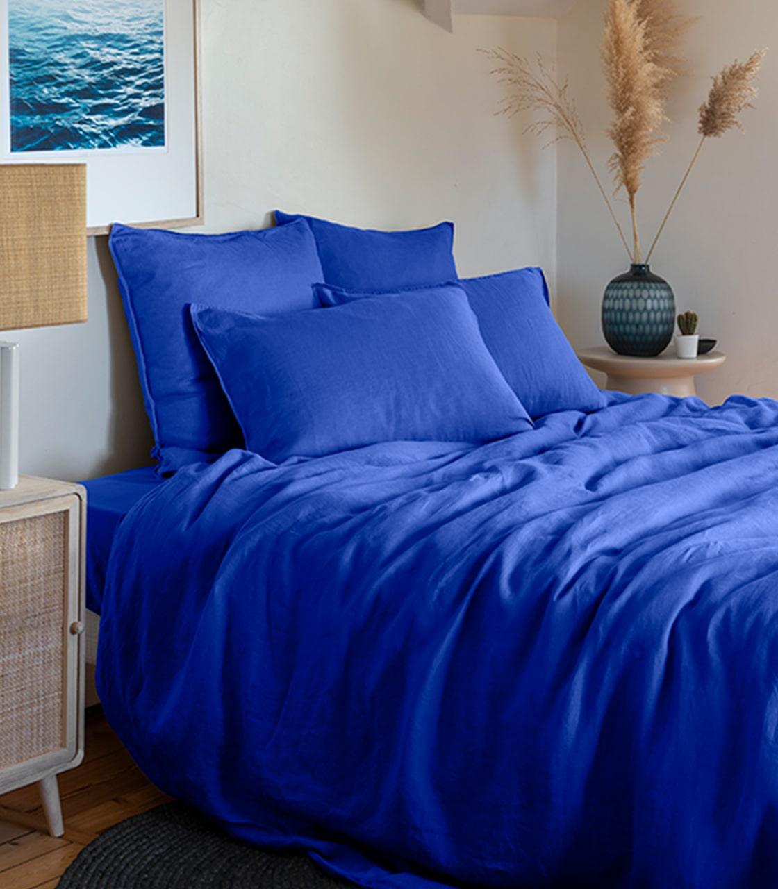Parure de lit Songe cobalt