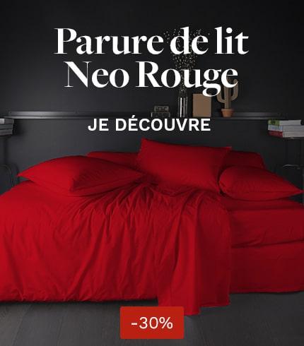Parure de lit Neo rouge
