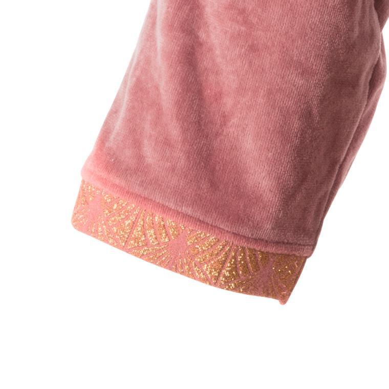 Peignoir femme velours kimono Divine bois de rose  - 6