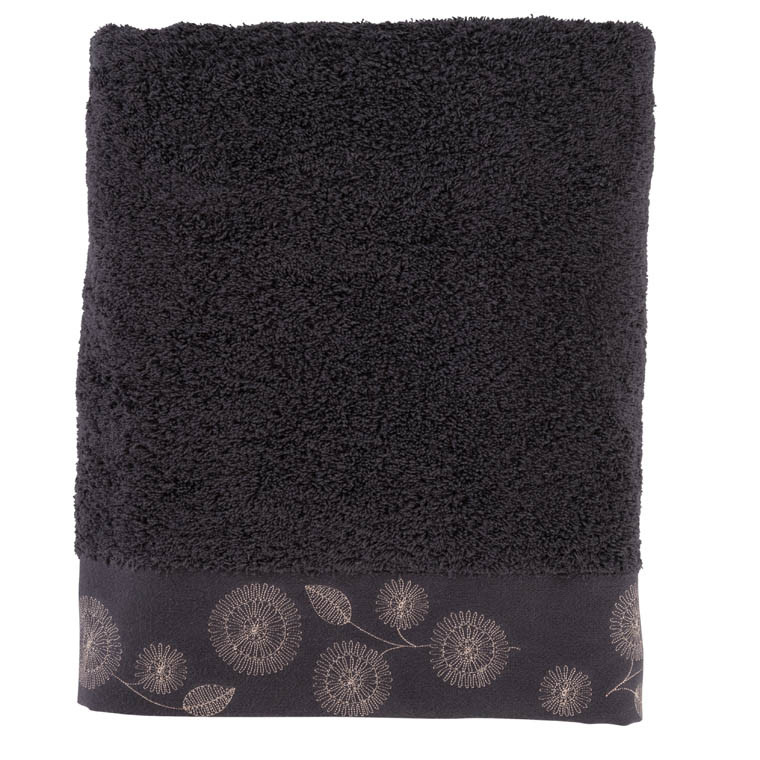 drap de bain adelys ebene carre blanc. Black Bedroom Furniture Sets. Home Design Ideas