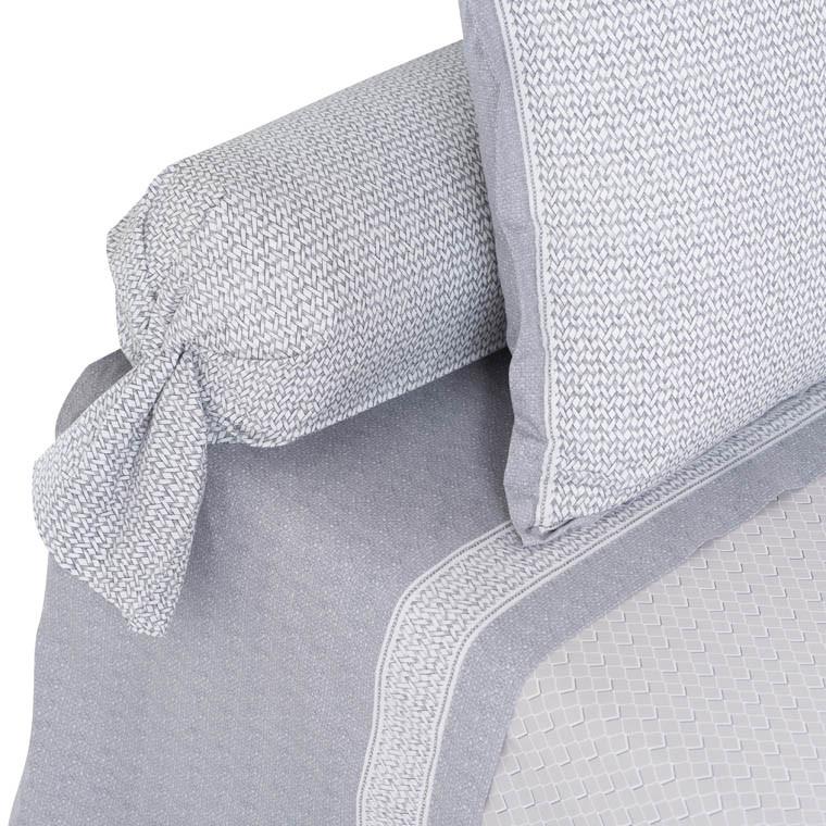 drap de lit alma carre blanc. Black Bedroom Furniture Sets. Home Design Ideas