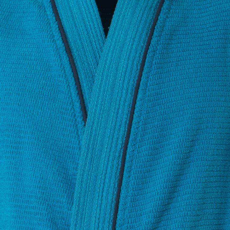 Peignoir homme coton kimono Aloe canard - 2