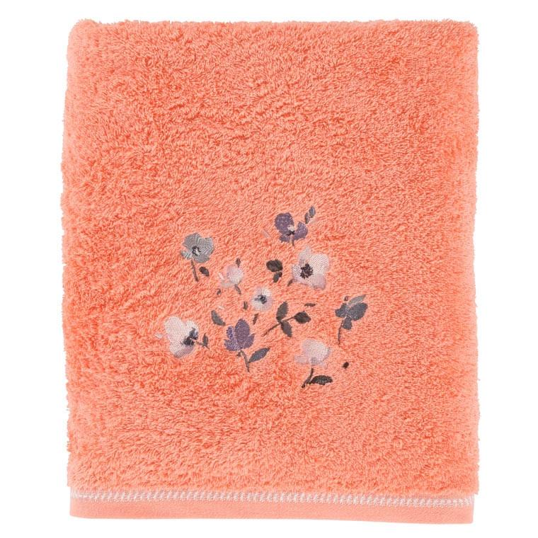 drap de bain althea corail carre blanc. Black Bedroom Furniture Sets. Home Design Ideas