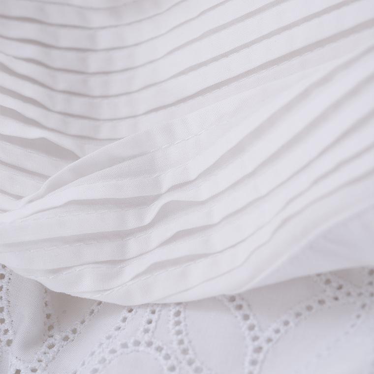 Housse de couette percale de coton broderie anglaise Amanda bohème - 2