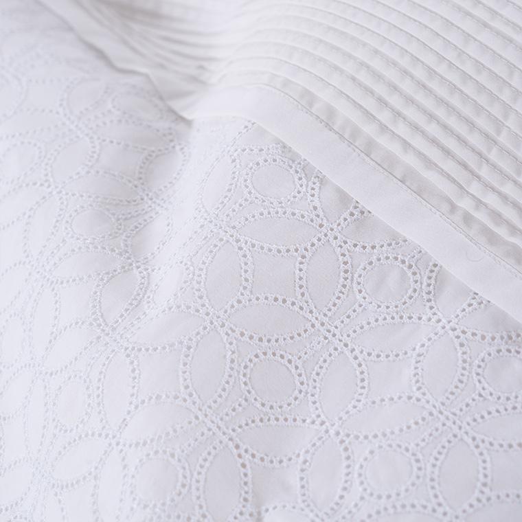 Housse de couette percale de coton broderie anglaise Amanda bohème - 3