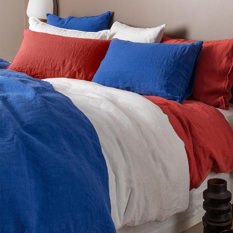Parure de lit lin et coton lavé Songe plusieurs coloris - 0