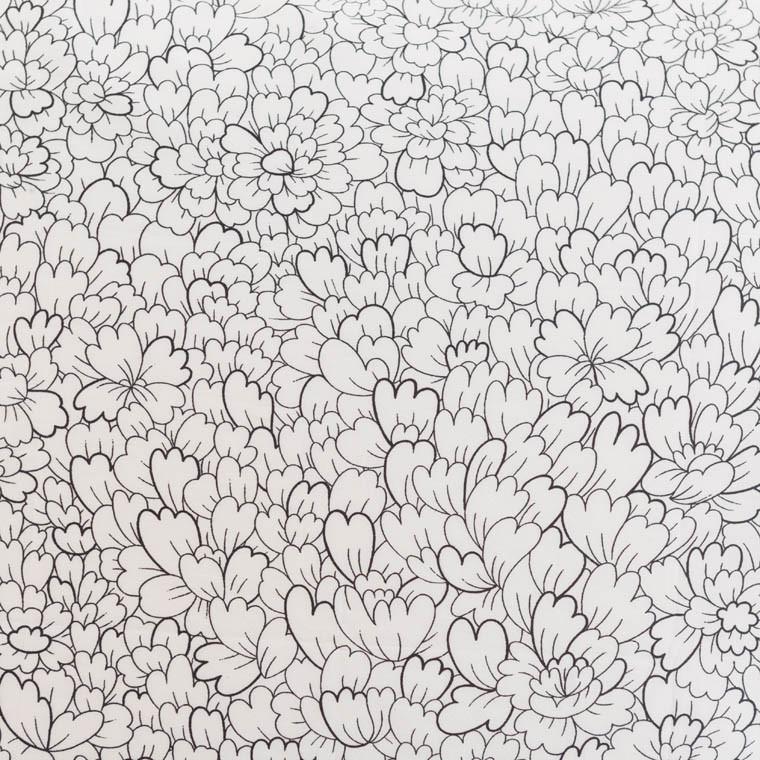 Housse de couette percale de coton imprimée Anae griotte - 4