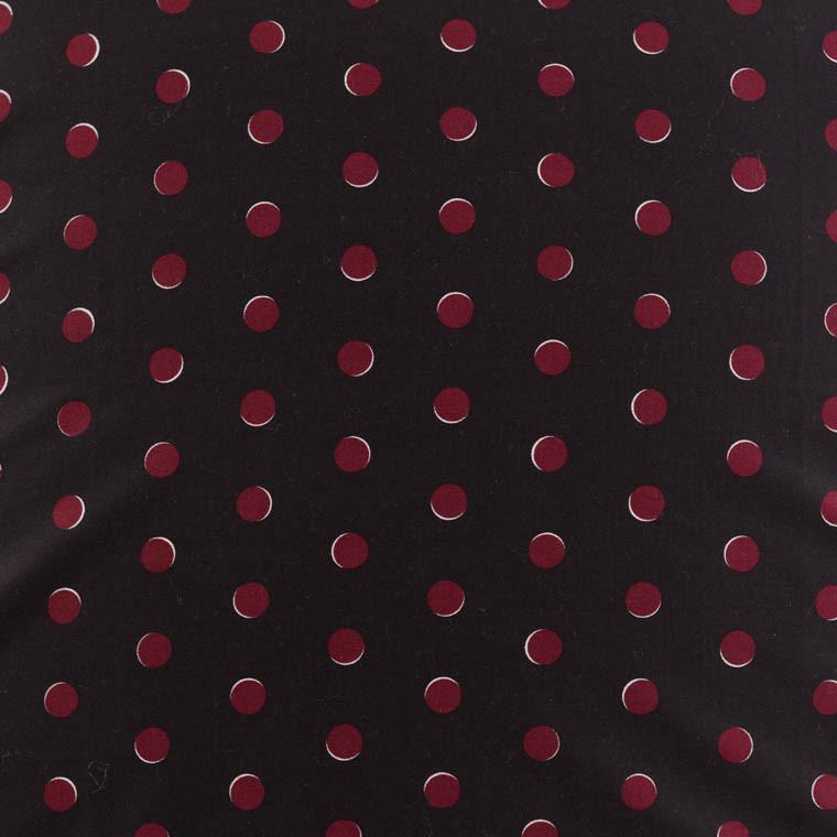 Housse de couette percale de coton imprimée Anae griotte - 3