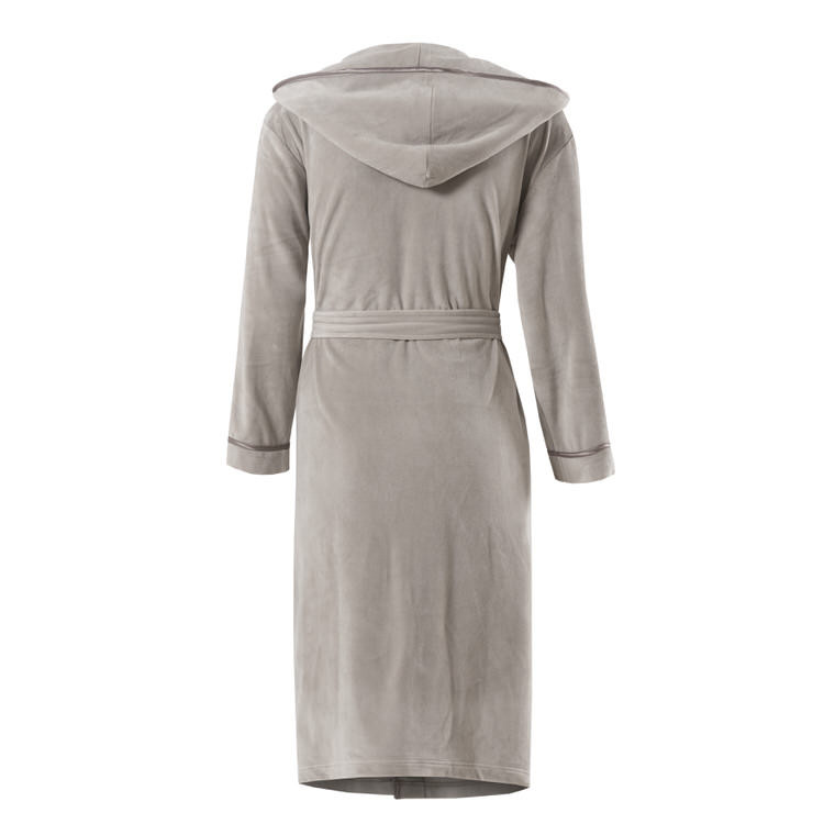 Robe de chambre femme microfibre ANAE LIN - CARRE BLANC