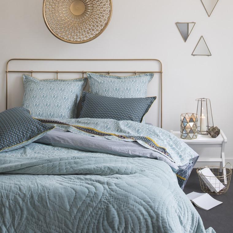 housse de couette augusta carre blanc. Black Bedroom Furniture Sets. Home Design Ideas