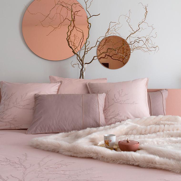 Parure de lit satin de coton Blush  - 1