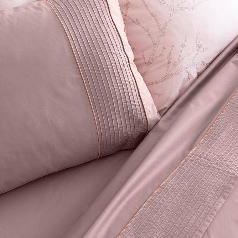 Parure de lit satin de coton Blush  - 3