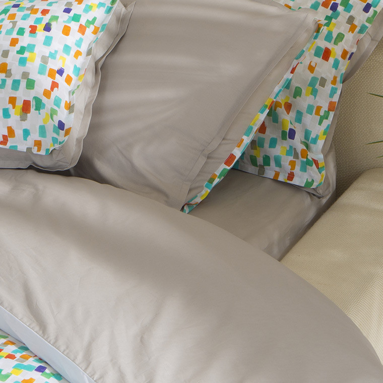 drap housse carioca grege carre blanc. Black Bedroom Furniture Sets. Home Design Ideas