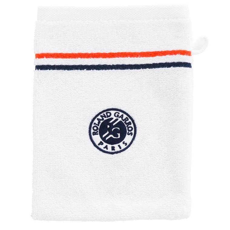 Gant de toilette bouclette de coton brodé Roland-Garros Chelem - 0