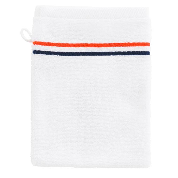 Gant de toilette bouclette de coton brodé Roland-Garros Chelem - 1