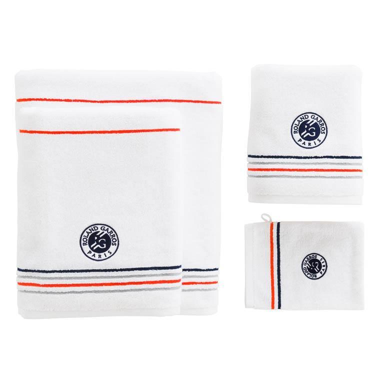 Gant de toilette bouclette de coton brodé Roland-Garros Chelem - 2
