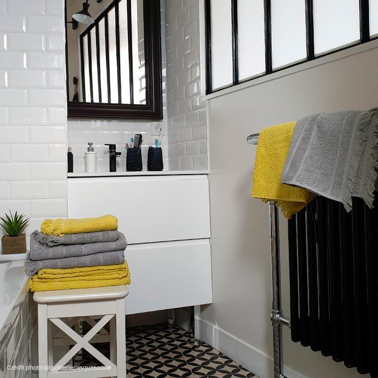 Serviette de toilette coton Chiara anis - 4