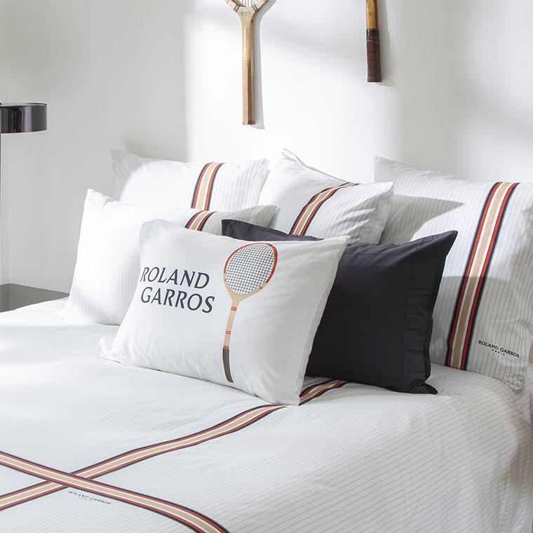 Parure de lit percale de coton imprimée Héritage - Roland-Garros 2021 - 1