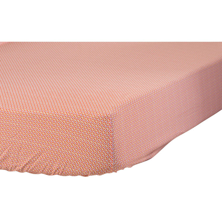 drap housse curacao corail carre blanc. Black Bedroom Furniture Sets. Home Design Ideas