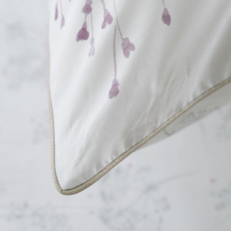 Taie d'oreiller retangulaire percale de coton fleur Cybèle - 2