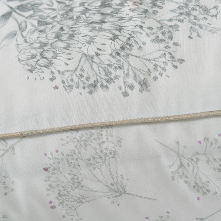 Taie d'oreiller retangulaire percale de coton fleur Cybèle - 3