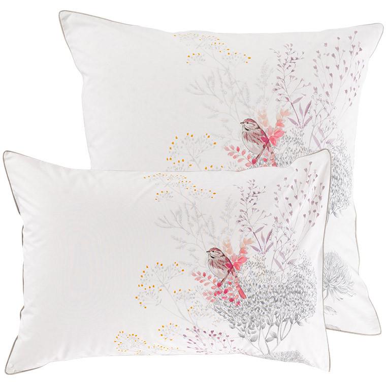 Taie d'oreiller retangulaire percale de coton fleur Cybèle - 4