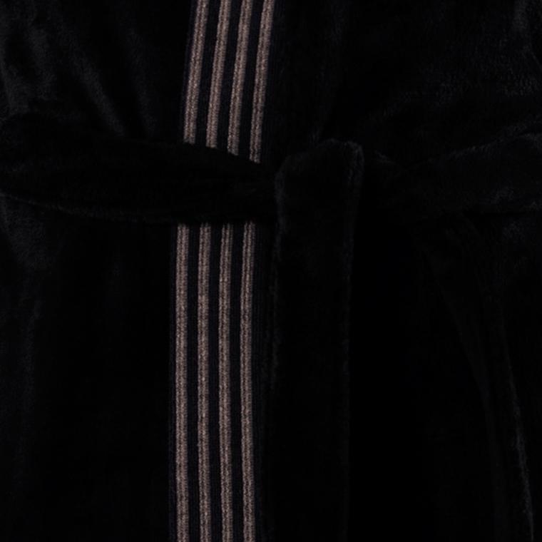 Peignoir homme coton kimono Havane anthracite  - 5