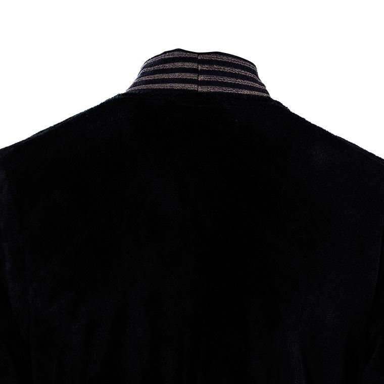 Peignoir homme coton kimono Havane anthracite  - 2