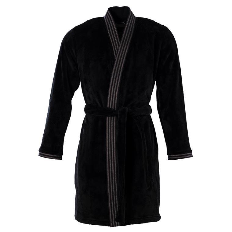 Veste polaire homme kimono Havane anthracite  - 0