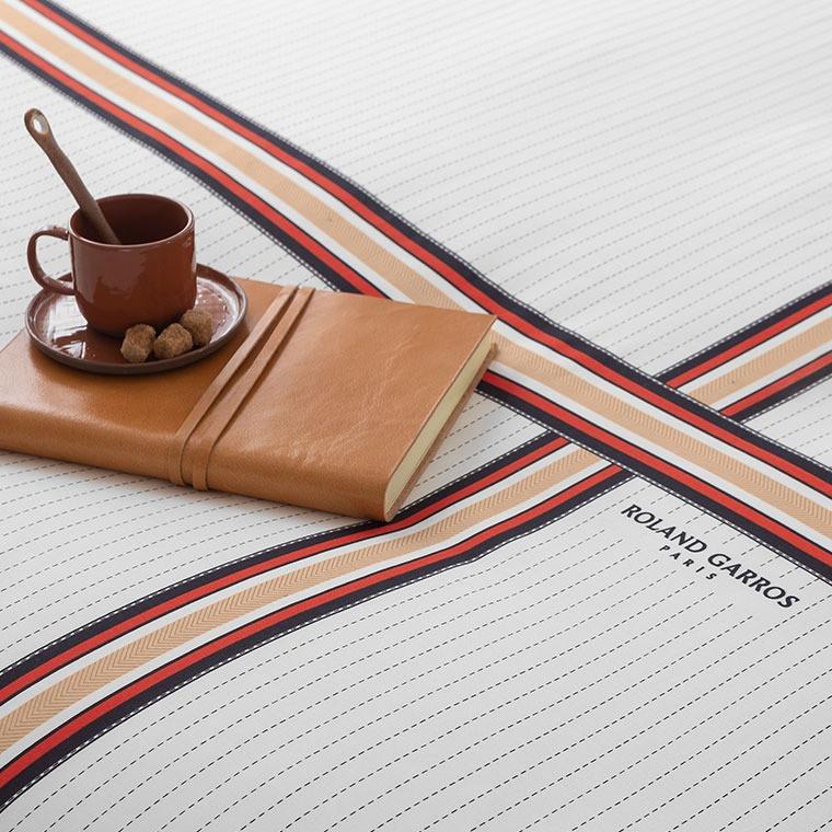 Parure de lit percale de coton imprimée Héritage - Roland-Garros 2021 - 5
