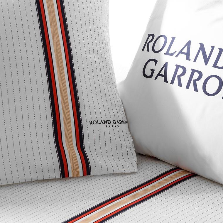 Parure de lit percale de coton imprimée Héritage - Roland-Garros 2021 - 2