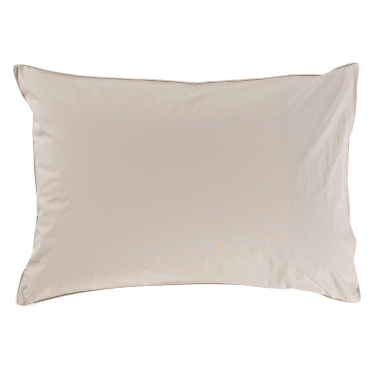 Taie d'oreiller rectangulaire percale de coton brodé Honorée - 1
