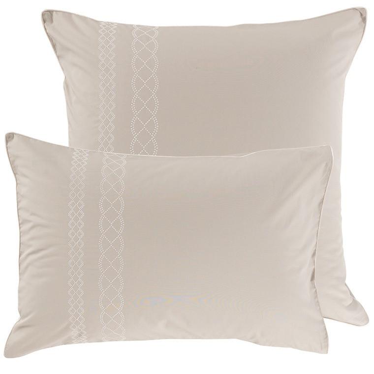 Taie d'oreiller rectangulaire percale de coton brodé Honorée - 4