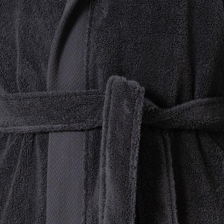 peignoir ado gar on hugo anthracite carre blanc. Black Bedroom Furniture Sets. Home Design Ideas